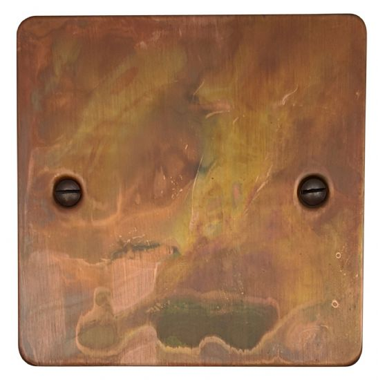 G&H Flat Plate Tarnished Copper